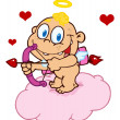 Stockfoto: Happy Baby Cupid