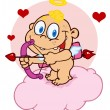 Cute Cupid with Bow and Arrow — Foto de Stock