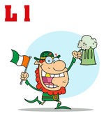 Funny Cartoons Alphabet-Leprechaun — Stock Photo