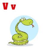 Funny Cartoons Alphabet-Snake — Stock Photo