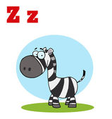 Funny Cartoons Alphabet-Happy Zebra — Stock Photo