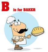 Funny Cartoons Alphabet with Text-B — Stock Photo