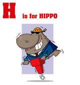 Funny Cartoons Alphabet with Text-H — Stock Photo