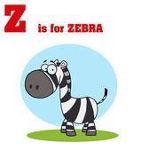 Funny Cartoons Alphabet with Text-Z — Stock Photo