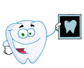 Happy Tooth With An Xray — Stock Photo