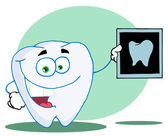 Happy Tooth With An Xray,background — Stock Photo
