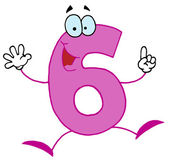 Funny Cartoon Numbers-6, background — Stock Photo