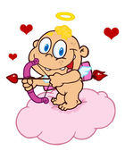 Happy Baby Cupid — Stock Photo