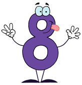 Funny Cartoon Numbers-8 — Stock Photo