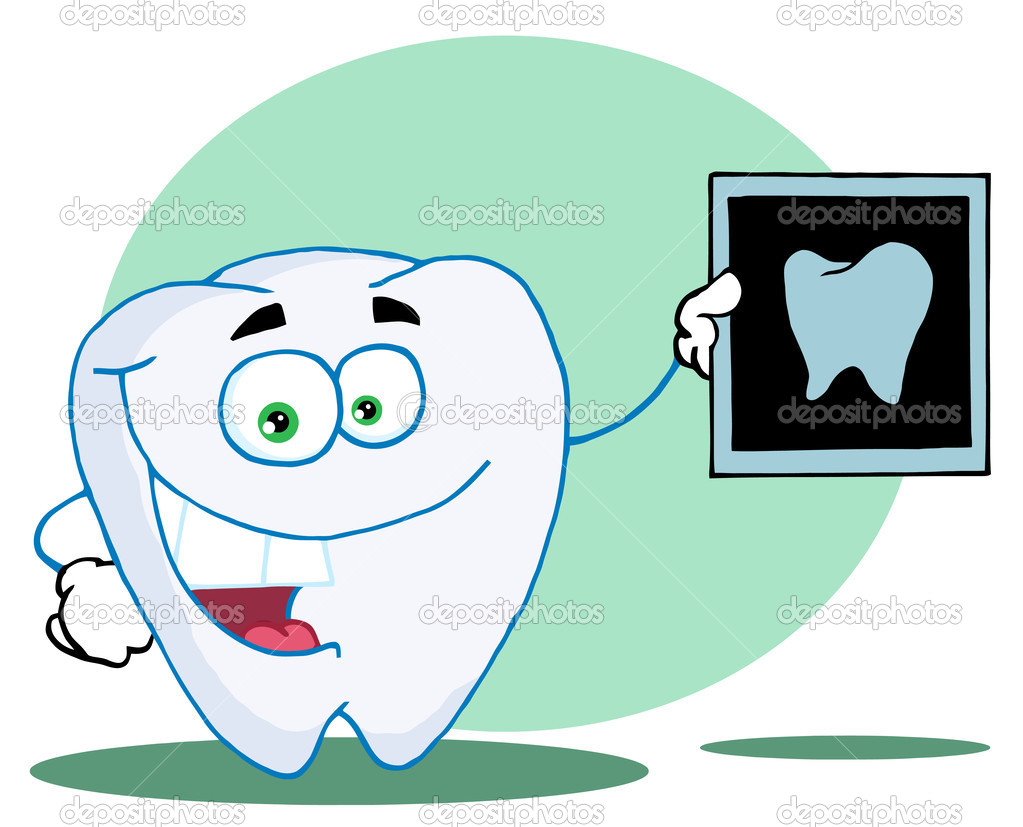 Happy Tooth With An Xray,background — Stock Photo #2610151