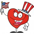 Stock Photo: Happy Red Heart In A Patriotic Hat