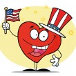 Patriotic American Heart — Stock Photo