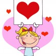 Cartoon Stick Cupid — Stock Photo