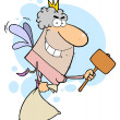 Tooth Fairy With A Mallet And Bag — Stock Photo