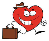 Happy Business Heart — Stock Photo