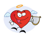 Angel Red Heart — Stock Photo