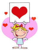 Cartoon Stick Cupid — Stock Photo