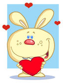 Happy Romantic Yellow Rabbit — Stock Photo