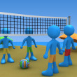Stock Photo: Beach Volley Challenge