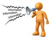 Informatie geven — Stockfoto