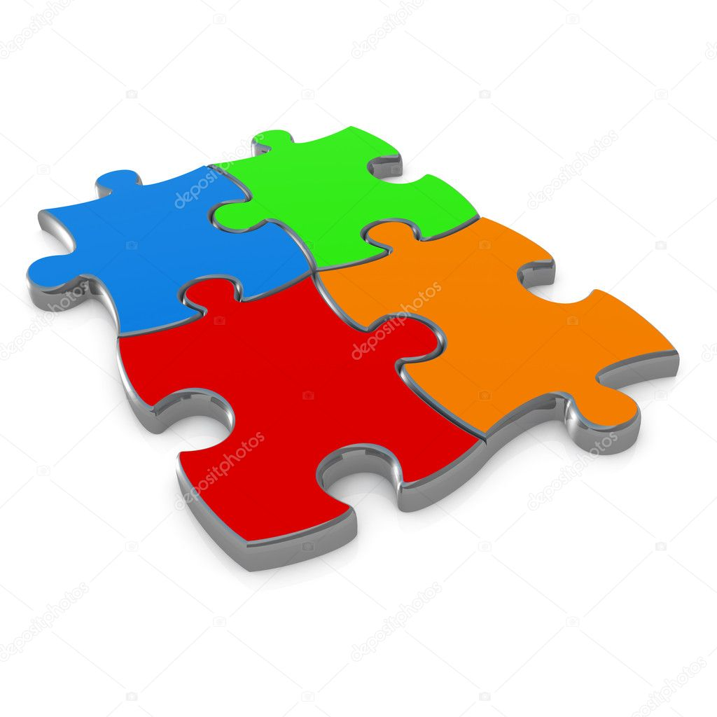 Computer generated image - Jigsaw Puzzle Design.  Stock Photo #2367538
