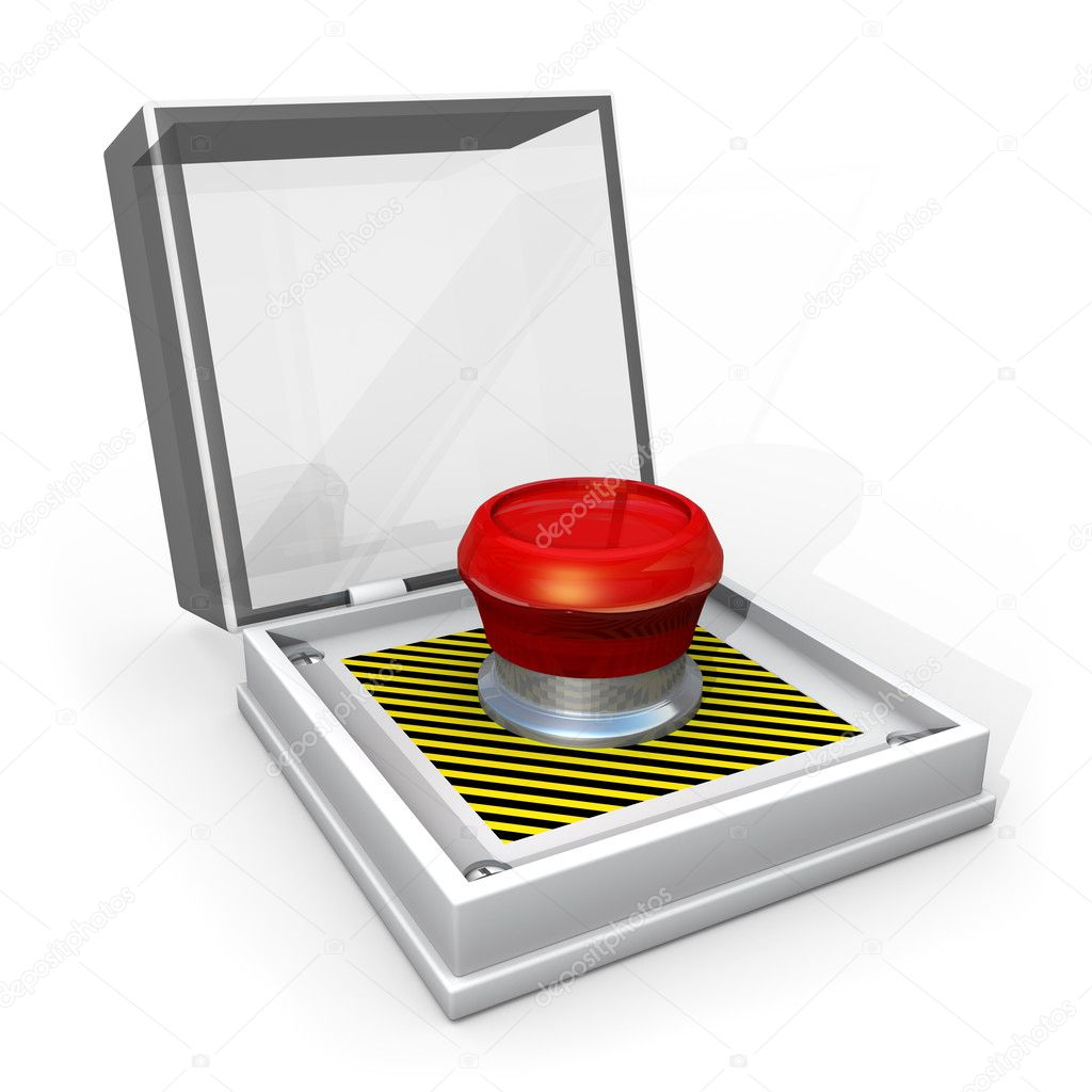 Computer generated image - Panic Button . — Stock Photo #2390177