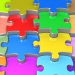 3D Jigsaw Puzzle — Stock Photo