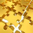 Gold 3d puzzles — Stock Photo