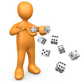Rolling The Dice — Stock Photo