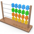 Stock Photo: Dollar Abacus