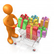 Stock Photo: Buying Presents