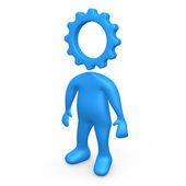 Cog Person — Stock Photo