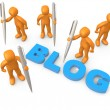 bloggers — Stock Photo