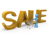Shopping on Sales — Stock Photo