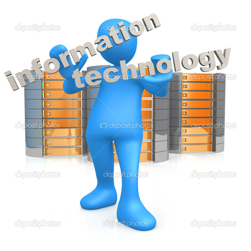 Information technology stock image