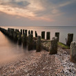 Stock Photo: Groyne in evening