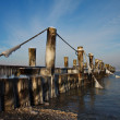 Groyne in winter — Stock Photo