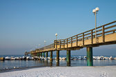 Pier in winter — Stock Photo