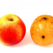 Royalty-Free Stock Photo: Old and young apples