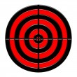 Stock Photo: Red & black target
