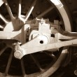 Stock Photo: Vintage steam engine wheel