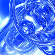 Stock Photo: Abstract blue effects background