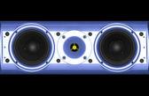 Blue speaker — Stock Photo