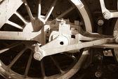 Vintage steam engine wheel — Stock Photo