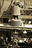 Railroad steam engine — Stock Photo