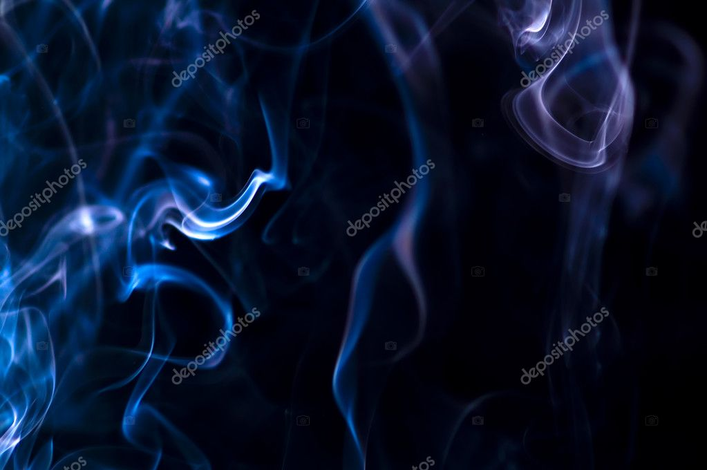 Puff of aroma smoke on a dark background — Stock Photo #2223710