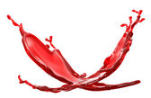 Red splash on white background — Stock Photo