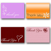 Thank you cards — Stock Photo