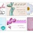 Set of 4 rsvp vector cards - Stock Vector