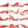 Abstract background vector set — Imagens vectoriais em stock